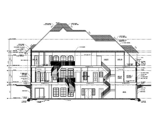 construction drawing model for a residential project