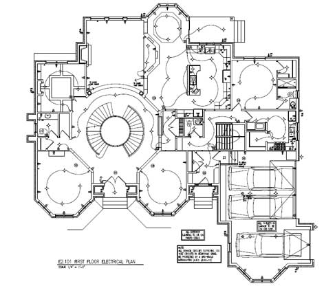 construction drawing for a residential project