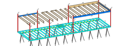 revit module of structural model