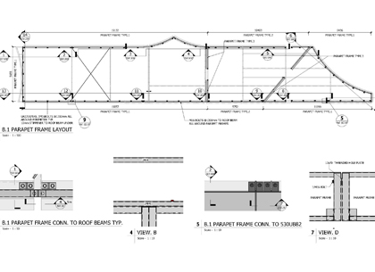 shop drawing of structural model