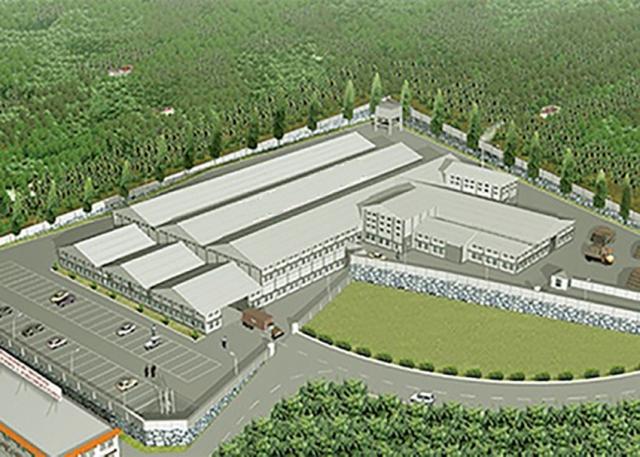 BIM for industrial building landscape