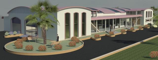 3D landscape model for an institution building