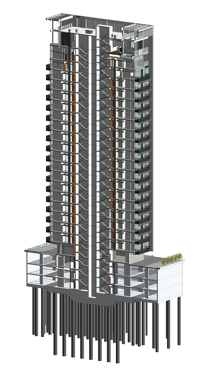 model of an apartment building