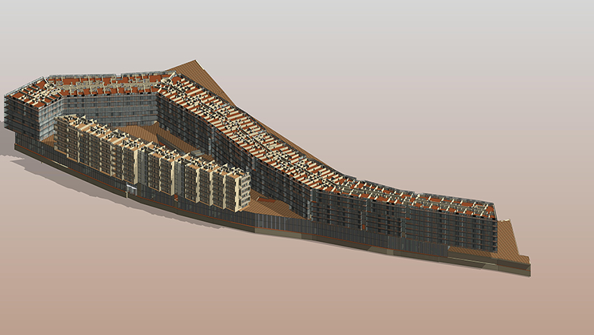 bim architecture model of an apartment building