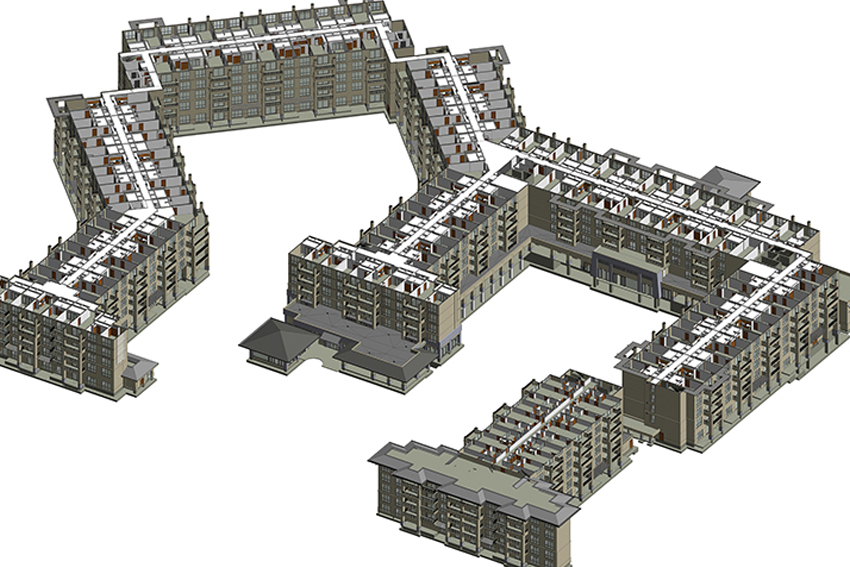 BIM model for a resort Building