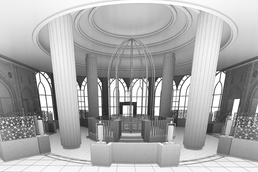 Interior BIM model of hotel building