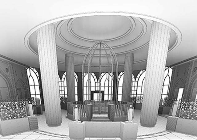 interior elevation bim model of a hotel building