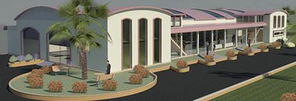 landscape building model