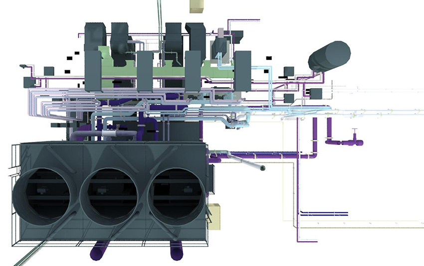 MEP and HVAC BIM model