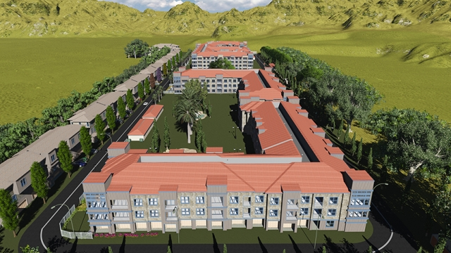 bim model of an old age home