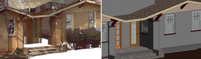 pointcloud conversion of a house