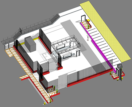 architetcural BIM model of a small building