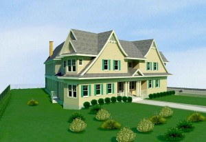 3D site model of residential building area
